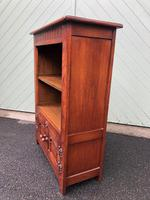Carved Oak Open Bookcase (4 of 7)