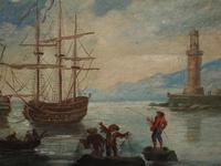 Oil Painting of a Harbour Scene (4 of 11)