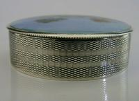 Rare Austrian Hand Painted Solid Sterling Silver Enamel Box c.1910 (4 of 8)