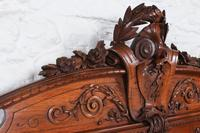 Beautiful Carved Walnut European King Size Bed (11 of 13)