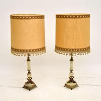 Pair of Onyx & Brass Table Lamps (2 of 11)