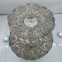 Mid 19th Century Antique Victorian Sterling Silver Suite Comports London 1862 Robert Garrard (4 of 12)