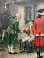 ''Before The Hunt'' Wonderful Large Vintage 18th Century Style Print on Board Picture (9 of 12)