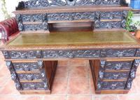 Country Oak Lions Head Pedestal Desk 1850 W M Richardson Ltd (11 of 12)