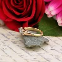 The Antique White Tipped Three Diamond Ring (4 of 6)