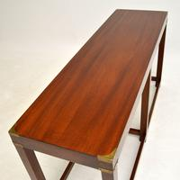Military Campaign Style Mahogany Console Table (5 of 9)