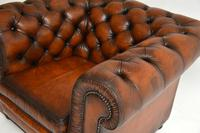 Antique Victorian Style Leather Chesterfield Armchair (3 of 8)