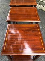 Edwardian  Inlaid Mahogany Nest 4 Tables (8 of 12)