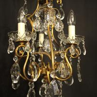 French Gilded Birdcage 4 Light Antique Chandelier (2 of 10)