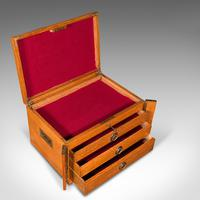 Antique Collector's Specimen Case, English, Oak, Chest, Jewellery Box, Edwardian (8 of 12)