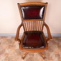 Teak Revolving Office Desk Chair (5 of 17)