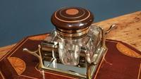 Antique Sheraton Inlaid Mahogany Pen & Ink Stand (3 of 4)
