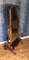 Victorian Walnut Cheval Mirror (3 of 12)