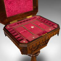 Antique Lady's Work Box, English, Rosewood, Sewing, Table, Regency c.1820 (3 of 12)