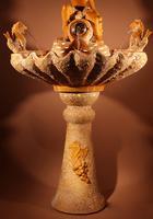 Unusual Vallauris Illuminated Ceramic Wall Standing Fountain (3 of 11)