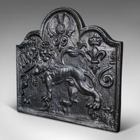 Antique Fire Back, English, Cast Iron, Decorative, Fireplace, Victorian c.1900 (3 of 12)