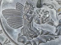 Large' Victorian Style' 3 Cherubs Stone Sundial Fairy Brass Top Timepiece (8 of 29)