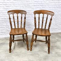 Pair of Windsor Spindleback Kitchen Chairs (2 of 5)