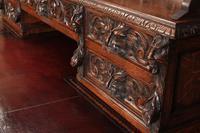 Carved Oak Pedestal Desk (8 of 19)