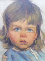 Two Oil on Canvas Portraits Little Girls Listed Dutch Artist Jeanne Brandsma (5 of 10)