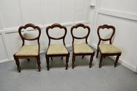 4 Victorian Mahogany Balloon Back Dining Chairs (3 of 6)