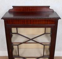Glazed Bookcase Edwardian Astragal Display Cabinet Mahogany (6 of 11)