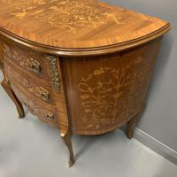 French Marquetry Demi Lune Commode (4 of 7)
