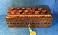 Victorian Burr Holly Glove Box with Tunbridge Ware Inlay (4 of 9)
