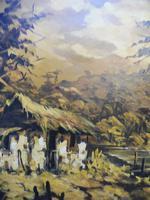Large oil on canvas The Plantation Brazilian artist Chediac (4 of 10)
