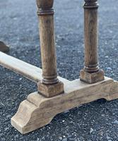 French Bleached Oak Farmhouse Refectory Dining Table (3 of 18)
