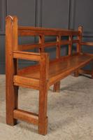 Solid Oak Arts & Crafts Bench (3 of 15)
