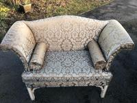 Antique English Small Upholstered Sofa (7 of 8)