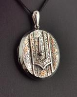 Antique Victorian Silver Buckle Locket, Large, Engraved (8 of 14)