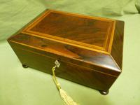Regency Rosewood Jewellery / Sewing Box - Original Tray + Accessories c.1820 (15 of 15)