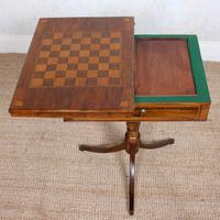 Rosewood Games Table Chess Board Folding Card Table 19th Century (4 of 16)