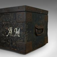 Antique Farrier's Chest, English, Pine, Iron, Tool Trunk, Edwardian c.1910 (9 of 11)