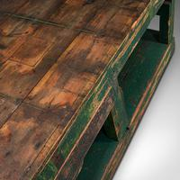 Large Antique Factory Work Table, English, Pine, Industrial, Mill, Victorian (9 of 10)