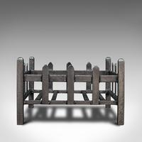 Antique Fireplace Grate, English, Cast Iron, Fire Basket, Late Victorian c.1900 (6 of 10)