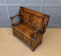 Jacobean Style Oak Monks Bench (11 of 14)
