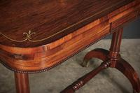 Rare Regency Rosewood Brass Inlaid Card Table (4 of 15)