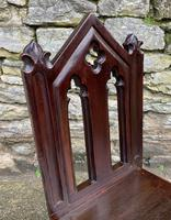 Antique Gothic Oak Hall Chair (9 of 13)