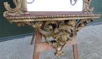 19th Century Decorative Gilt-framed Pier Mirror with Shelf (2 of 6)