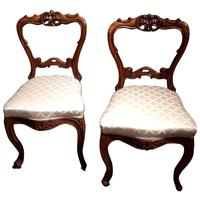 Pair of 19th Century Carved Satinwood Balloon Back Chairs (9 of 9)