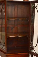 Antique Mahogany Display Cabinet on Stand (10 of 10)