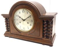 Solid Oak Hat Shaped Mantel Clock 8-day by Hac Westminster Chime (5 of 10)