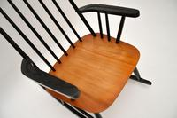 1960's Vintage Ebonised Elm Rocking Chair (10 of 11)