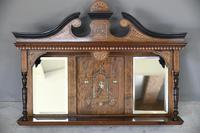Victorian Inlaid Rosewood Overmantle Mirror Shelf (5 of 12)