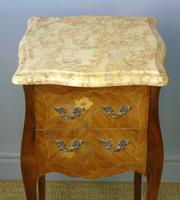 Antique Pair of French Bedside Cabinets Marble Top (2 of 6)