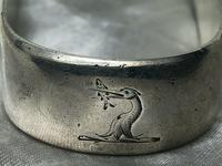 Antique 18th Century Silver Hallmarked Irish Georgian Sugar Tongs Heron Crest (2 of 12)