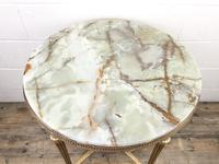 Gold Gilt Table with Circular Onyx Top (3 of 11)